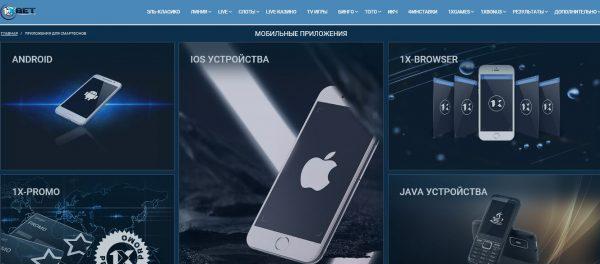 Мобильные приложения букмекерской конторы